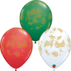 28cm Round Evergreen Assorted Latex Balloon Pack of 25