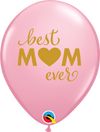 28cm Simply Super Mum Pink Latex Balloon Pack of 25