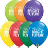 28cm Simply Bright Future Latex Balloon Pack of 25