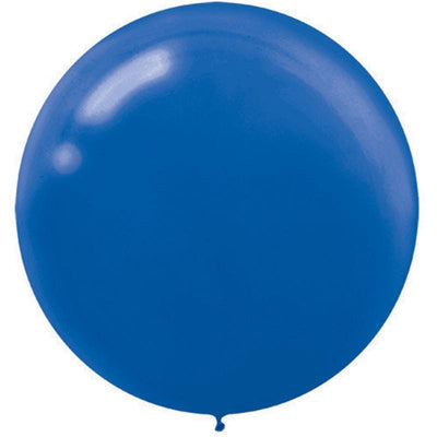 Round Bright Royal Blue Latex Balloons 60cm Pack of 4