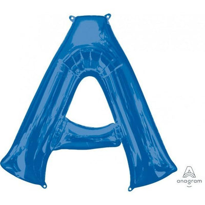 Letter A Supershape Shaped Foil Balloon 86cm Blue