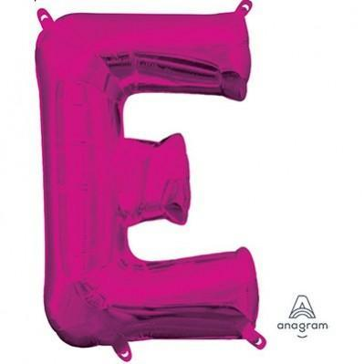Ci Letter E Shaped Balloon 40cm Pink