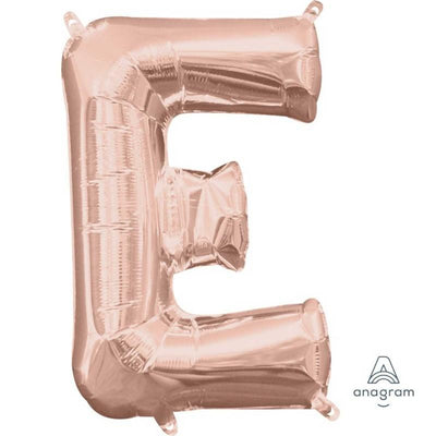 Ci Letter E Shaped Balloon 40cm Rose Gold
