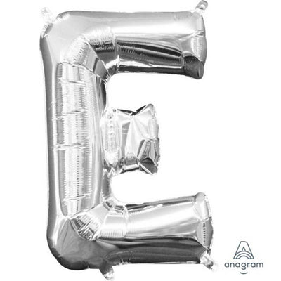 Ci Letter E Shaped Balloon 40cm Silver