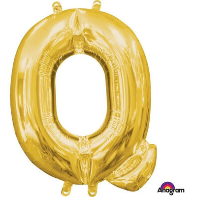 Ci Letter Q Shaped Balloon 40cm Gold