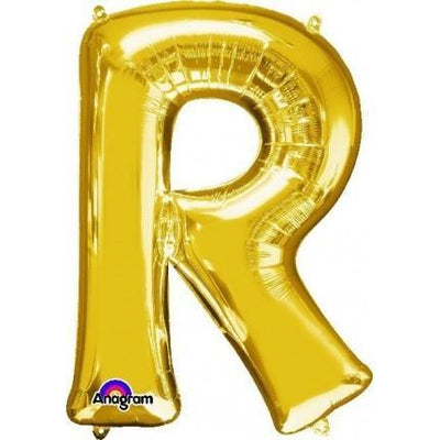 Ci Letter R Shaped Balloon 40cm Gold