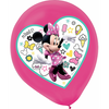 Teardrop Minnie Mouse Happy Helpers Latex Balloons 30cm Pack of 5
