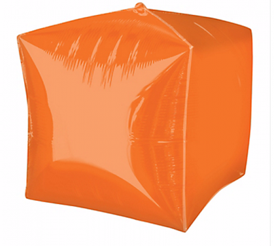 Cubez Ultrashape Shaped Balloon 38cm x 38cm Orange