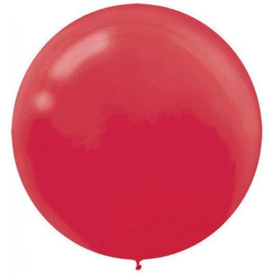 Apple Red Latex Balloons 60cm Pack of 4