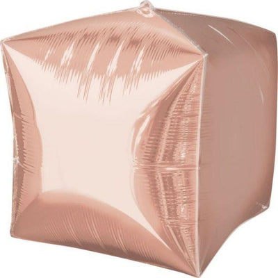 Cubez Ultrashape Shaped Balloon 38cm x 38cm Rose Gold