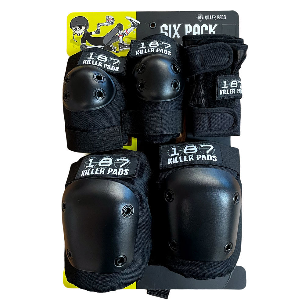 187 Wrist Knee Elbow Pads Adult Combo Pack Black