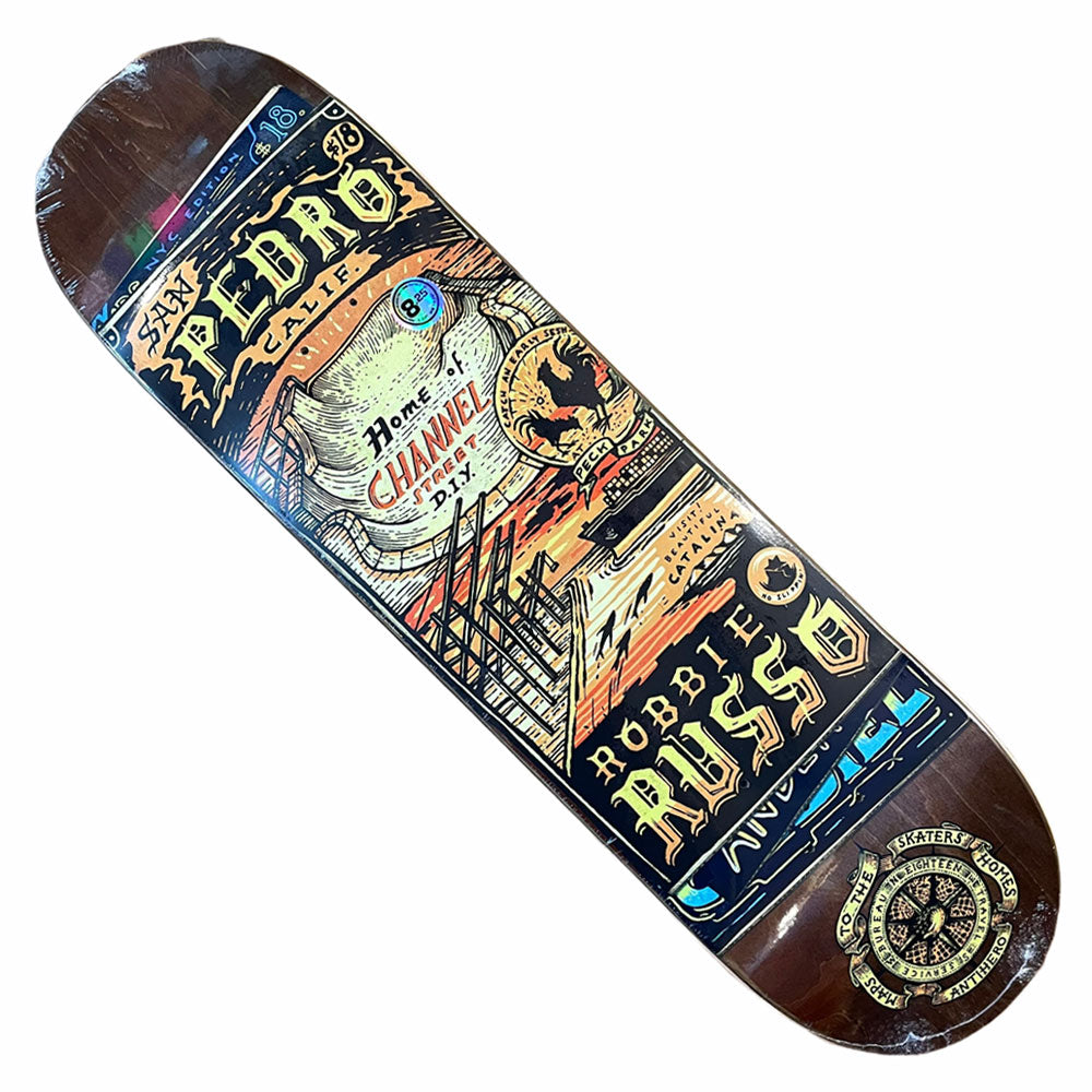 Anti Hero Deck Russo Maps to Skaters Homes 8.25x31.9