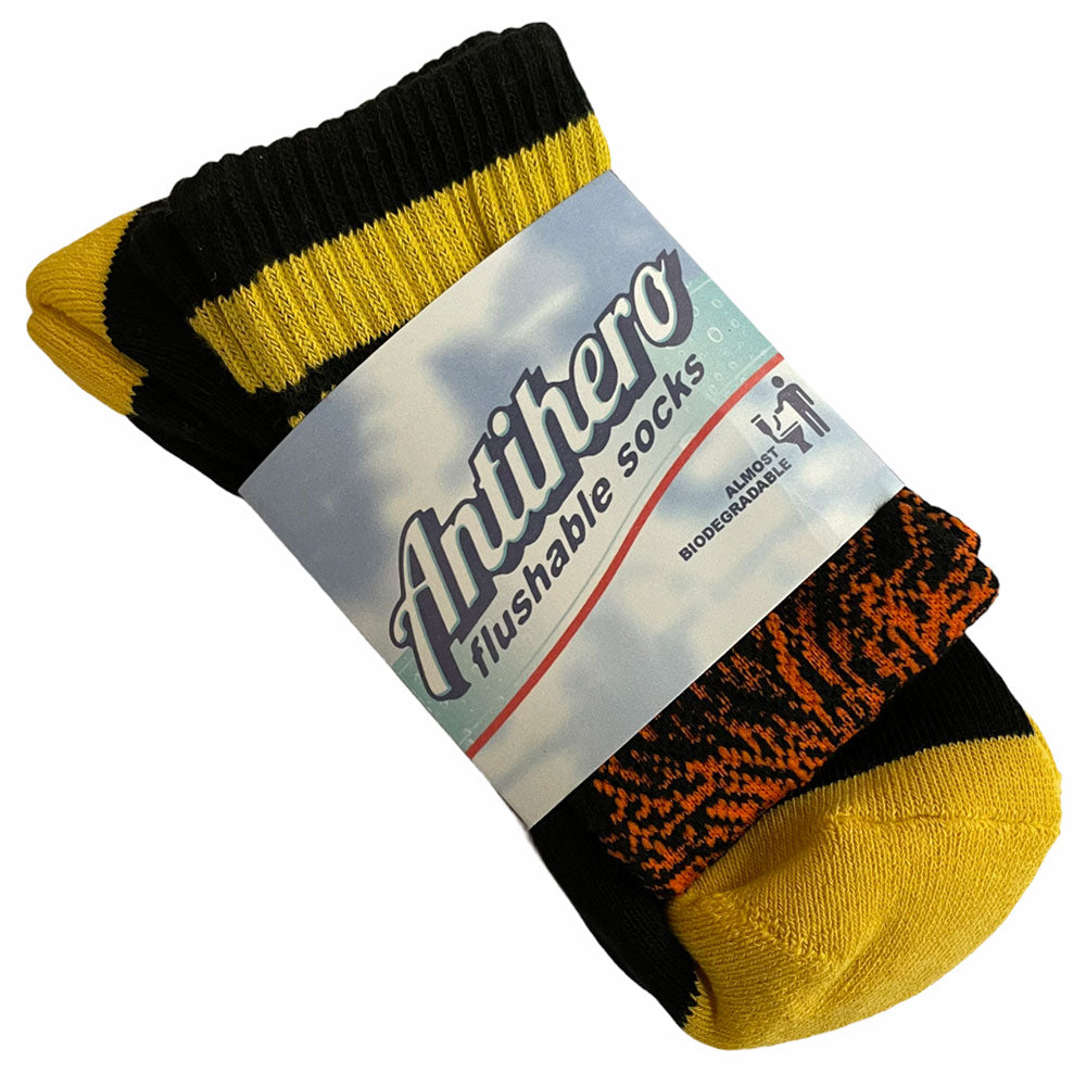 Anti Hero Socks Grimple Stix Black Yellow