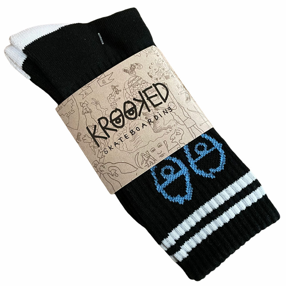 Krooked Socks Eyes Black Blue White
