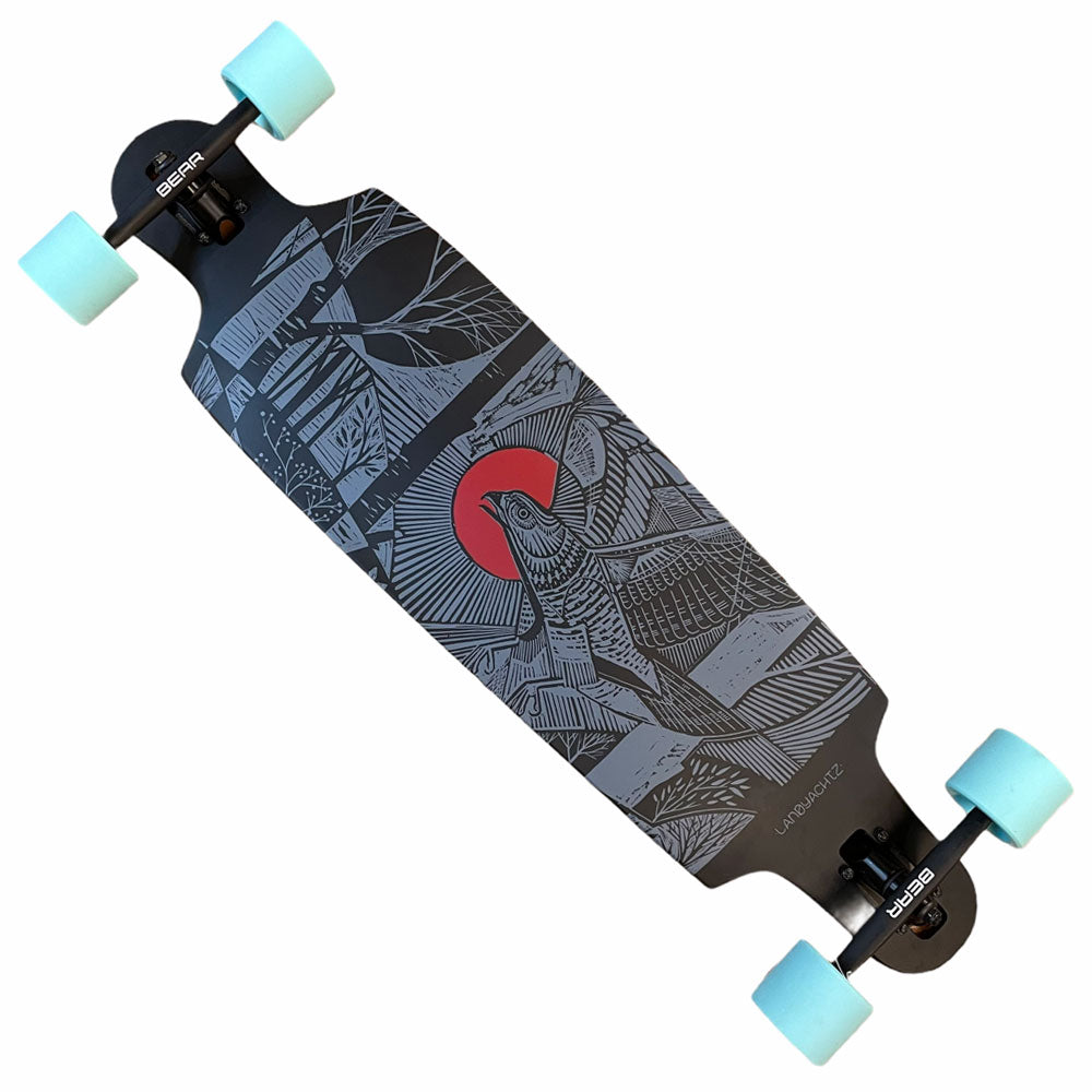 Landyachtz Complete Drop Cat 38 Seeker Black Red