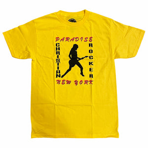 Paradise Tee Christian Rocker Yellow