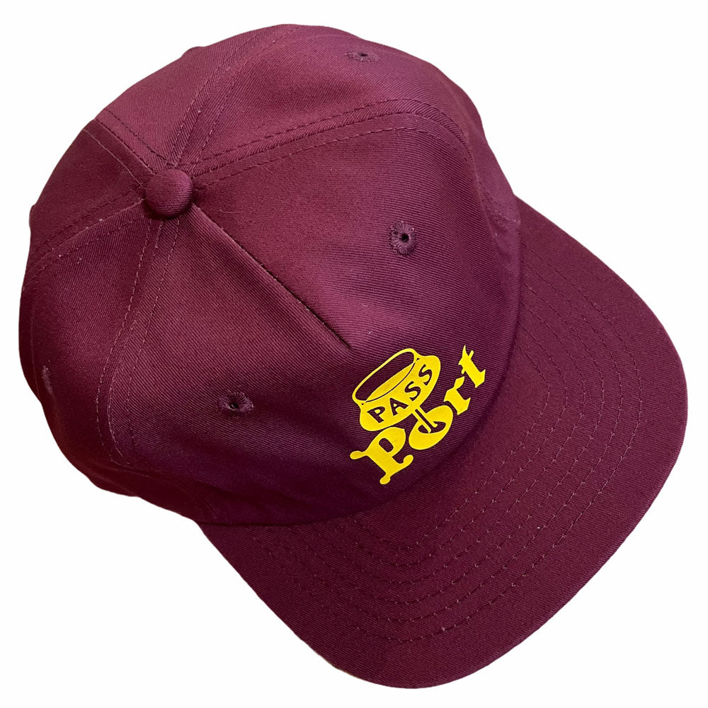 Passport Hat 5 Panel Maroon