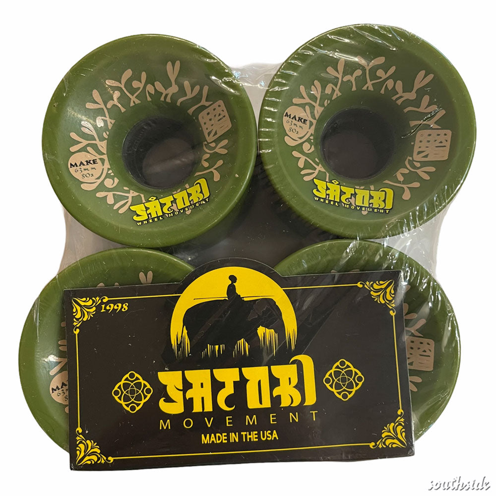 Satori Wheels Make Collab Olive 63mm80A