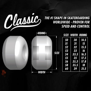 Spitfire Wheels F4 Classic Silver 54mm99A