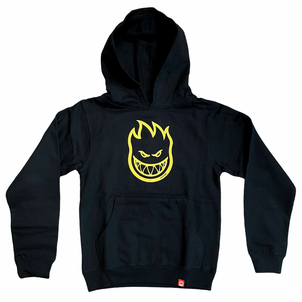 Spitfire Hoodie YOUTH Bighead Black Yellow