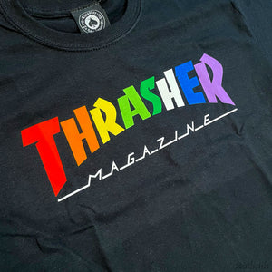 Thrasher Tee Rainbow Black