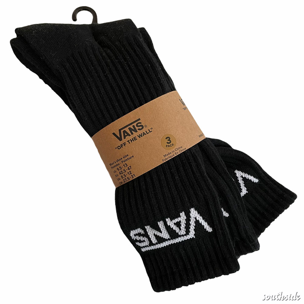 Vans Socks Crew 3 Pack Black