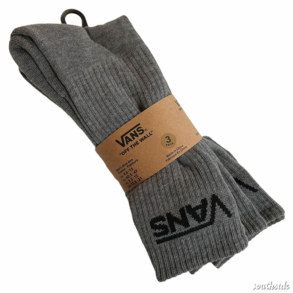 Vans Socks Crew 3 Pack Heather Grey
