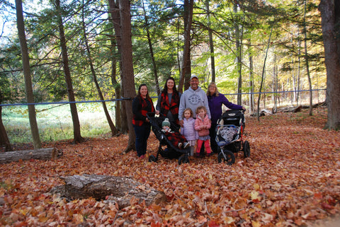 Ray, Ann, Leann, Lisa Thompson and family from Thompsontown Maple Products are seen in the beautiful fall colours in the maple forest.
