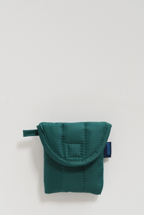 Puffy Earbuds Case in Malachite