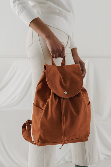 Drawstring Backpack in Umber