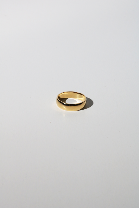 5mm Chunky Stacking Ring in Gold