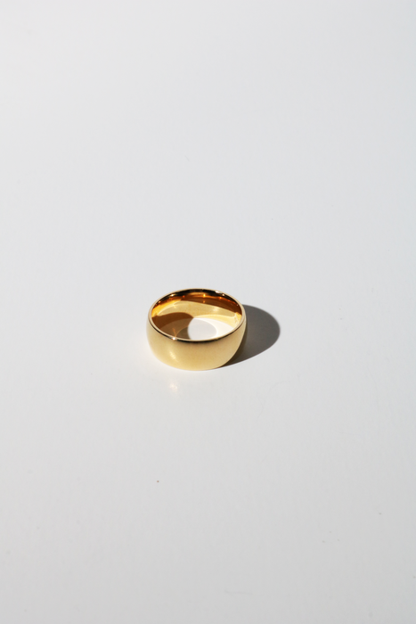 7mm Chunky Stacking Ring in Gold