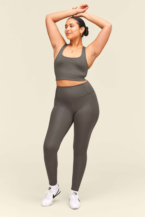 High-Rise Compressive Legging in Moon
