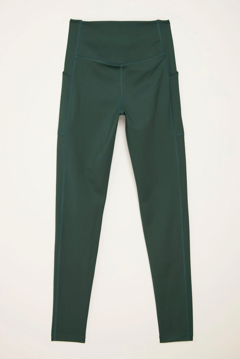 High-Rise Pocket Legging in Moss
