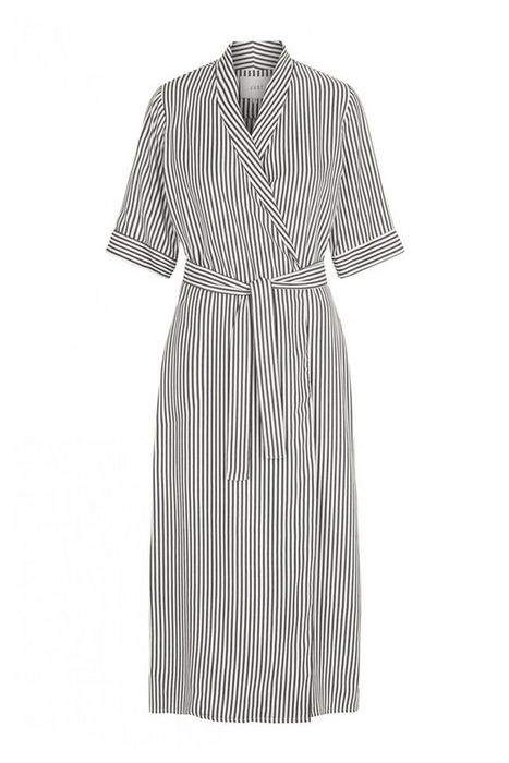 Beach Wrap Dress in Green Stripe