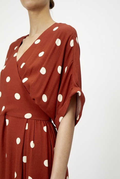 Caia Dress in Red Polka Dot