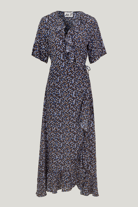 Lassy Maxi Wrap Dress in Little Flower Print