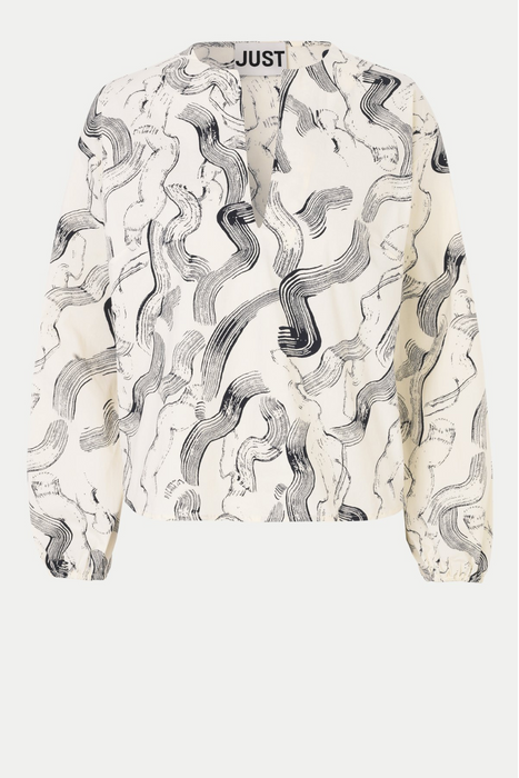 Paper Blouse in Paint Strokes