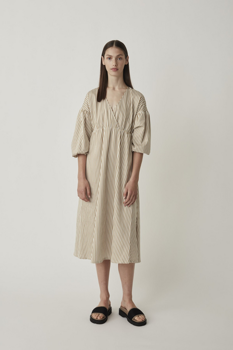 Paxton Dress in Kelp Stripe