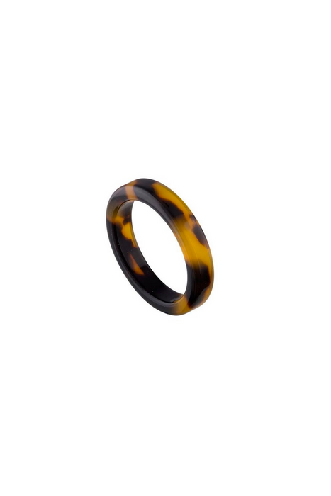 Thin Stack Ring in Classic Tortoise