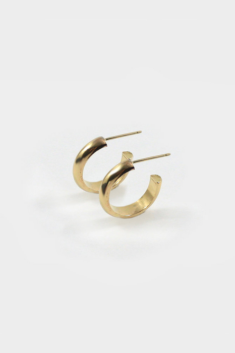 Jane Hoops in Gold