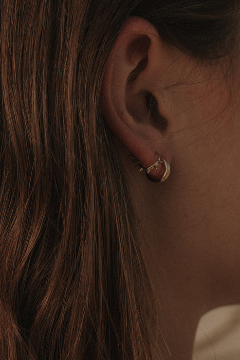 Lil Jane Hoops in Gold