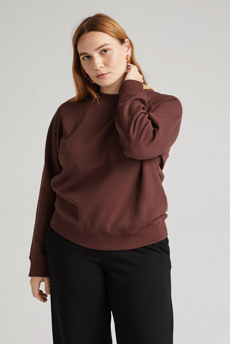 Recycled Fleece Sweatshirt in Truffle