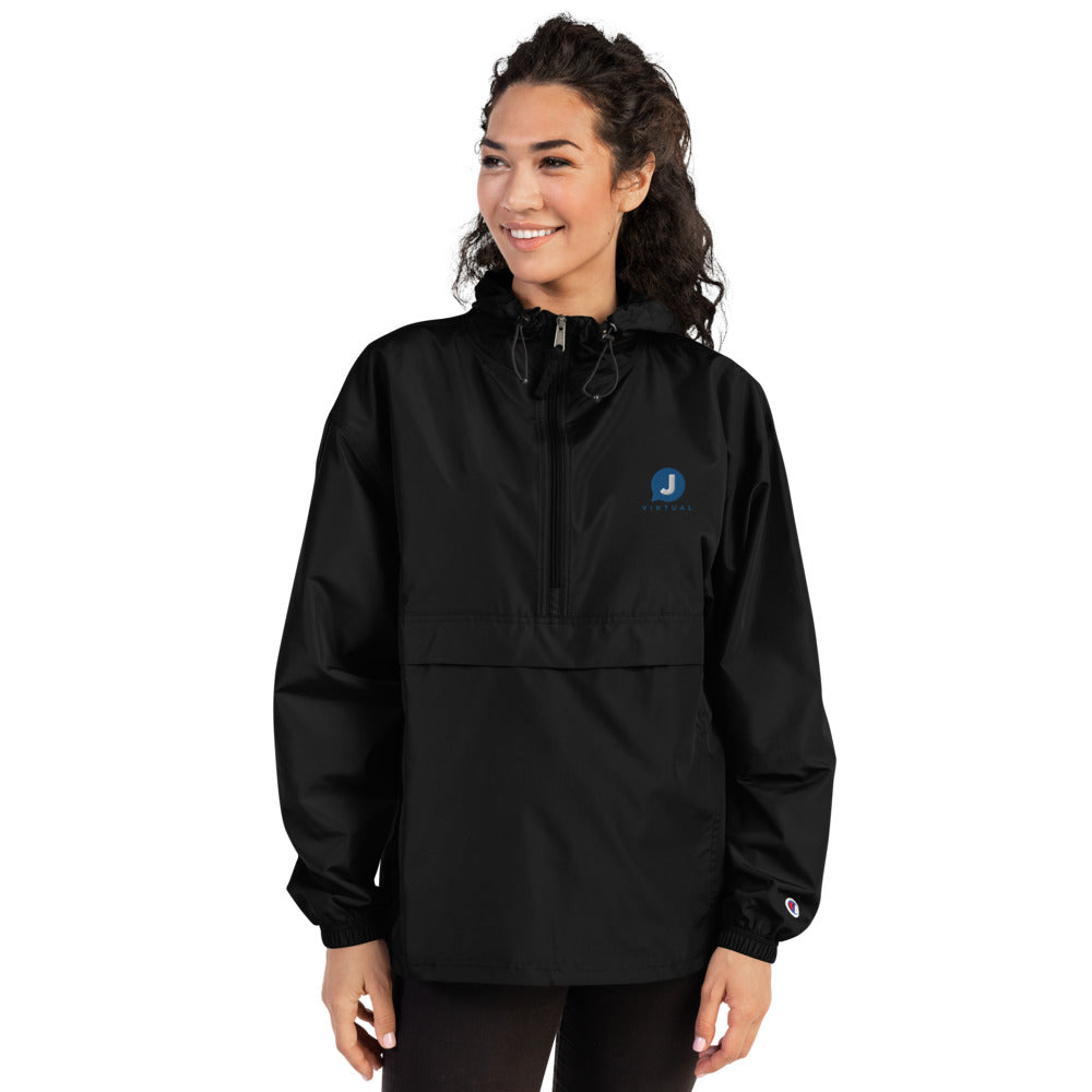Women's Embroidered Champion Packable Jacket - VJCC logo