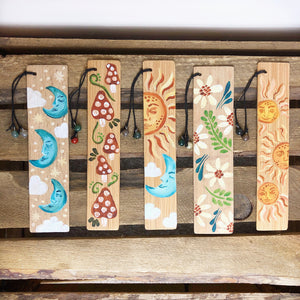 Hand Painted Wooden Bookmarks