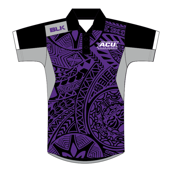 ACU Rugby - Men's Rugby Polo Shirt, Black (Pre-Order 1170)