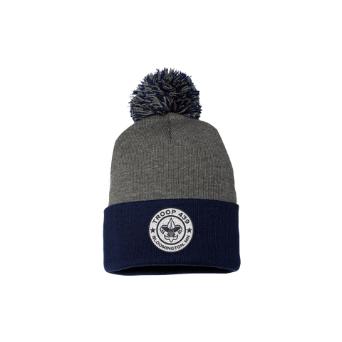 Troop 439 - Patch Winter Pom Beanie (Pre-Order 1190)