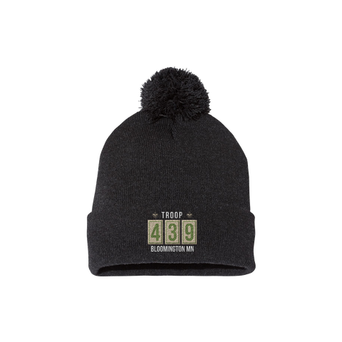 Troop 439 - Embroidered Winter Pom Beanie (Pre-Order 1190)