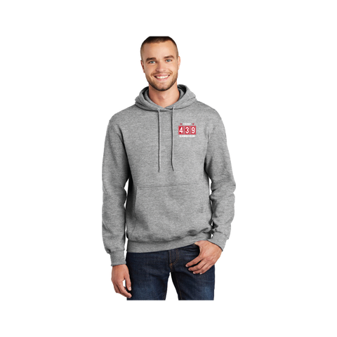 Troop 439 - Fleece Embroidered Pullover Hooded Sweatshirt, Red Logo (Pre-Order 1190)