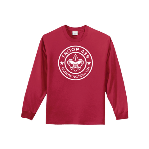 Troop 439 - Red Long Sleeve Tee (Pre-Order 1190)